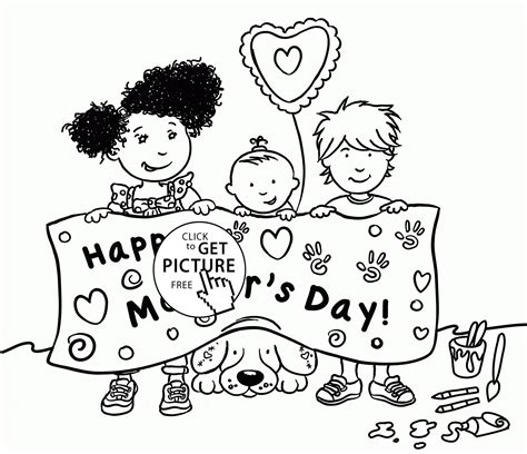 cute coloring pages for mother s day cute kids and happy mother s day coloring page for kids