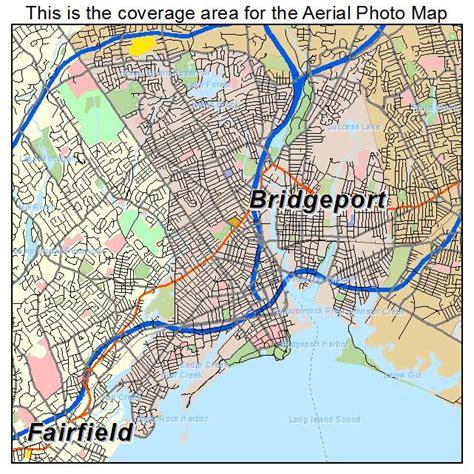 bridgeport map aerial photography map of bridgeport ct connecticut