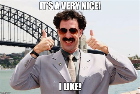 I Like It Meme - borat thumbs up imgflip