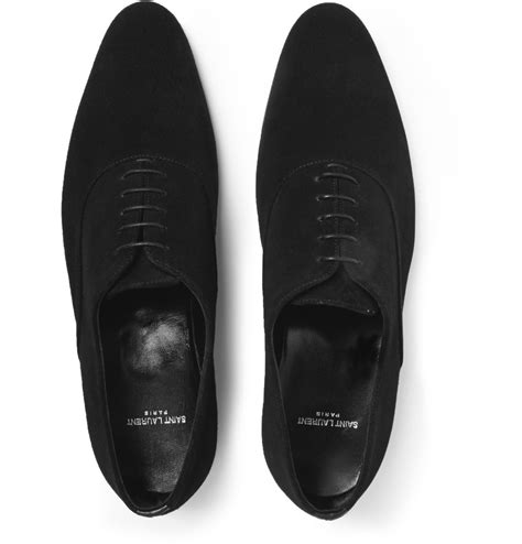 laurent oxford shoes laurent suede oxford shoes in black for lyst