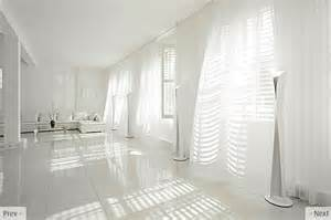 White flowing curtains