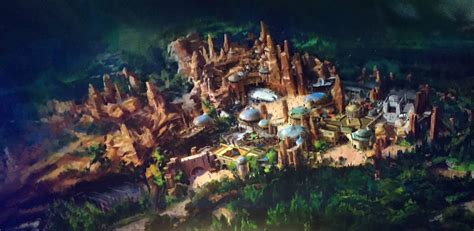 disney world reveals new name artwork models for wars land rendering layout of wars experience
