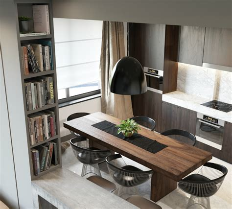 wohnung l minimalist apartment with an engaging laid back