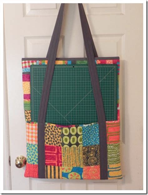 Quilting Tote by Cutting Mat And Ruler Tote Bag For Quilters Quilting Digest