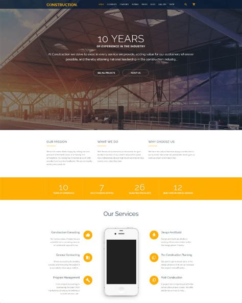 41 Construction Website Themes Templates Free Premium Templates Best Construction Website Templates