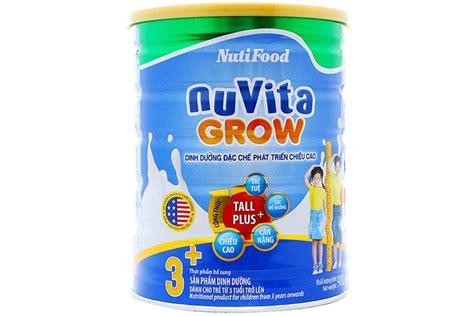 grow len sữa bột nuvita grow 3 900g cho b 233 từ 3 tuổi trở l 234 n