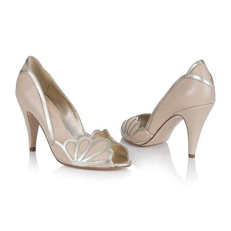 Blue Peep Toe Bridal Shoes