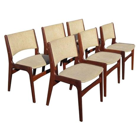 set of four dining room chairs rosewood and leather at vintage set of six midcentury rosewood dining chairs by