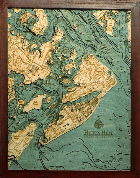 decorative artists of long island woodchart hilton head nautical topographic art