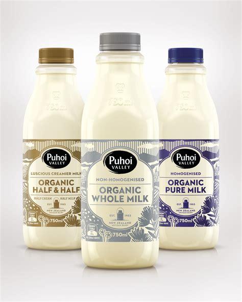 milk design auckland puhoi organic milk the dieline branding packaging design