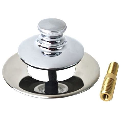watco bathtub drain stopper watco bathtub stopper and drain push pull 48751 pp cp