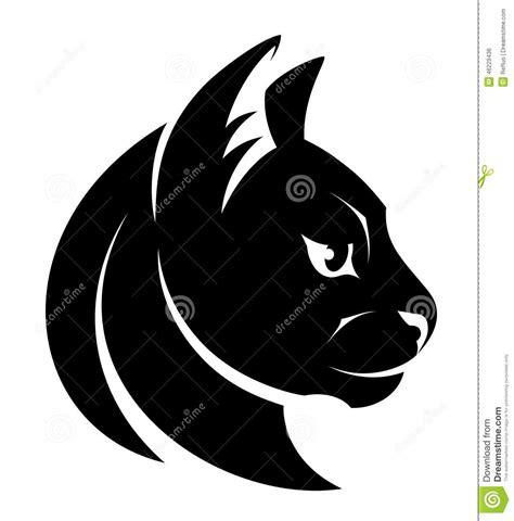 cat head symbol stock vector image 46229436