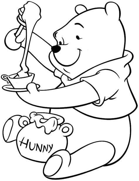 honey bear coloring pages honey bear put honey in bowl coloring pages coloring sky