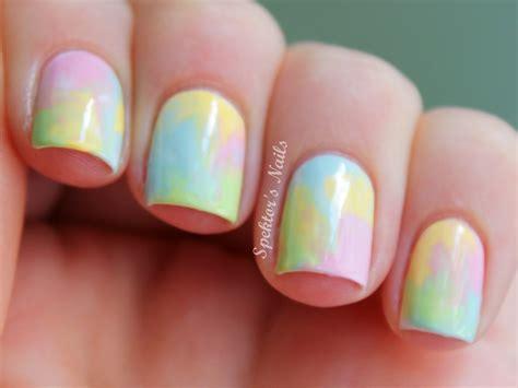 water color nails pastel watercolor nails