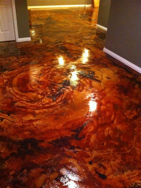 Stained Concrete Floors Pros And Cons by Stains Just And On