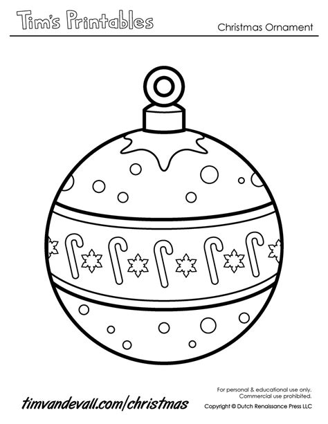 Christmas Ornaments Free Coloring Pages Paper Ornaments Templates