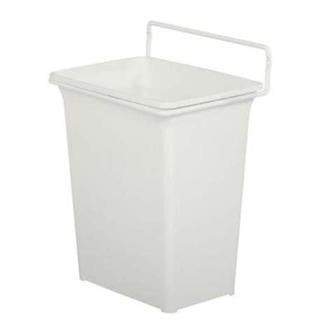 cabinet door trash can knape vogt 13 in h x 10 in w x 7 in d plastic in
