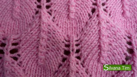 tejido con agujas punto fantasia hojas caladas tejido con dos agujas 45