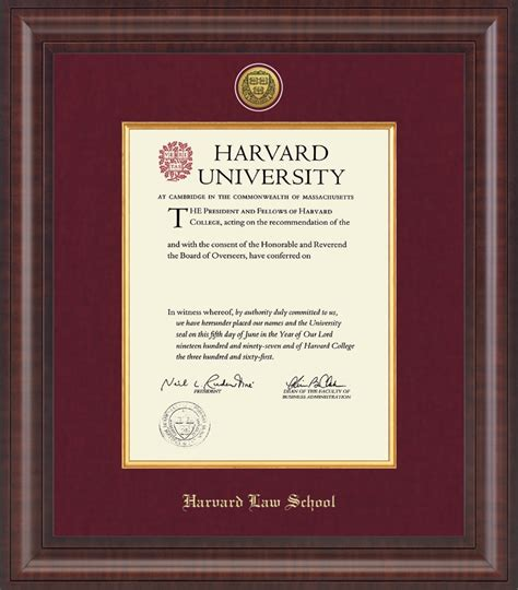 Harvard Jd Mba Gre by Harvard Presidential Gold Engraved Diploma