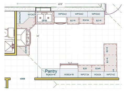 Kitchen Floor Plan No Island Which Helps For Aging In Kitchen Floor Plans