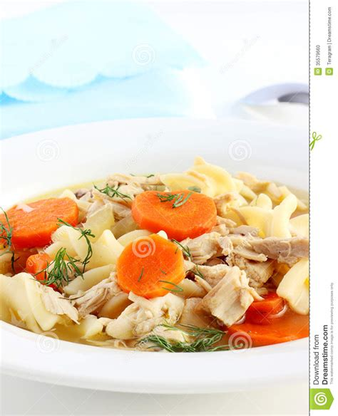 jewish comfort food chicken noodle soup stock photo image 35579660