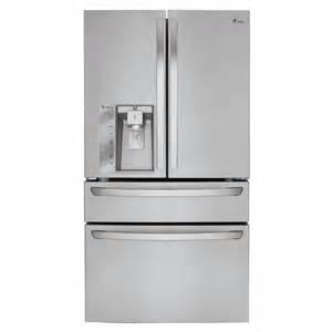 Shop lg 22 7 cu ft 4 door counter depth french door refrigerator with