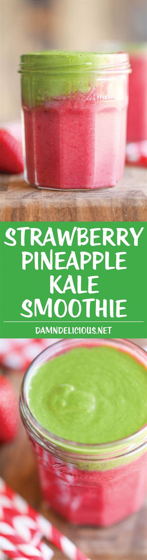 Strawberry And Pineapple Detox Water by Strawberry Pineapple Kale Smoothie Recipe Smoothies