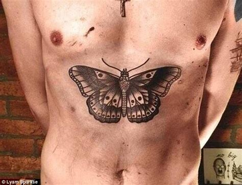 Harry Styles Love Tattoo | harry styles get s huge butterfly tattoo on his stomach