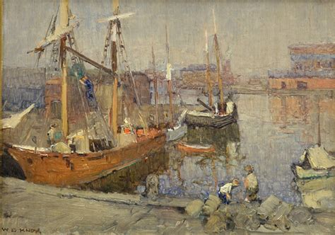 fishing boat auction melbourne paintings william dunn knox australian art auction records