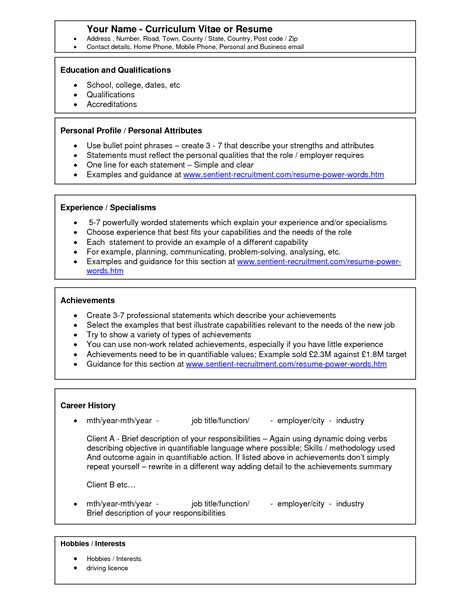 Cv Template Word 2003 Free Free Microsoft Word Resume Temp