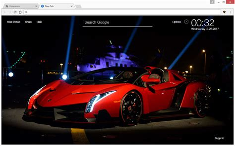 chrome web store themes lamborghini hd
