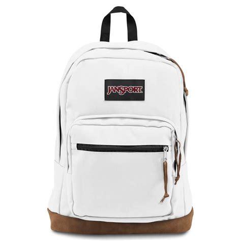 White Backpack Bag jansport right pack white backpack billion creation