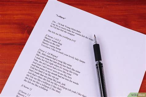 scrivere testi rap come scrivere il testo di una canzone rap o hip hop