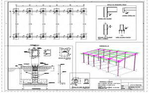 Structural Steel Shed Design by Structure Shed In Autocad Drawing Bibliocad