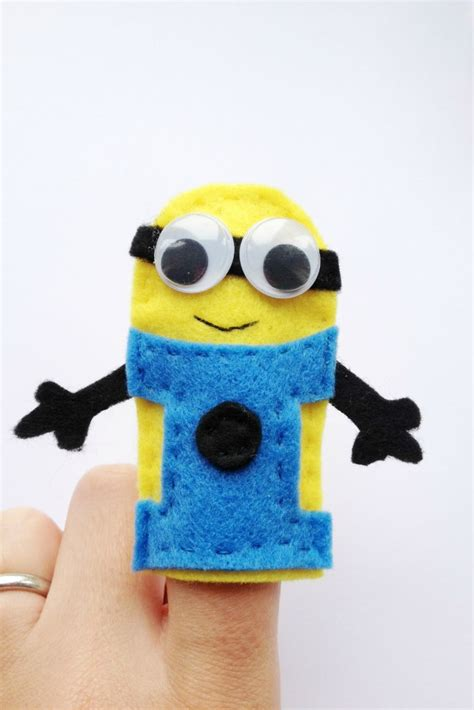 How To Make A Puppet Out Of A Paper Bag - how to make minion finger puppets crafts on sea
