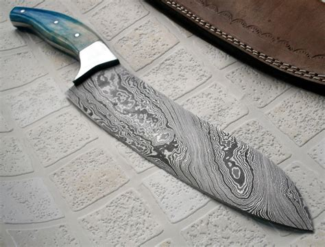 stainless steel damascus rk 105 damascus steel chef knife stainless steel bolster