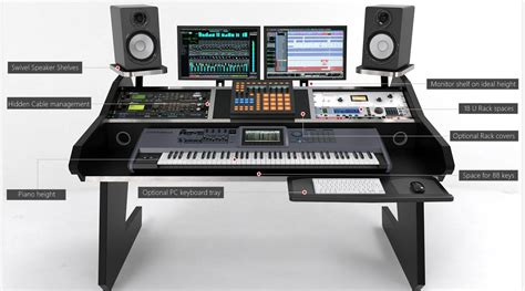 88 key keyboard studio desk piano keyboard workstation desk hostgarcia