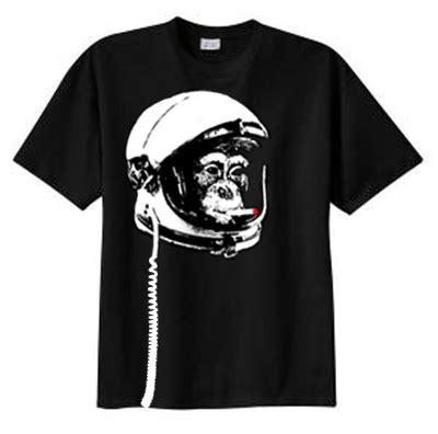 Space Monkey Poster Black Shirt space monkey t shirts cosmonaut cold war astronaut tshirt
