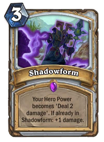 Shadowform Priest Deck by Shadowreaper Anduin With Actual Shadowform Hearthstone