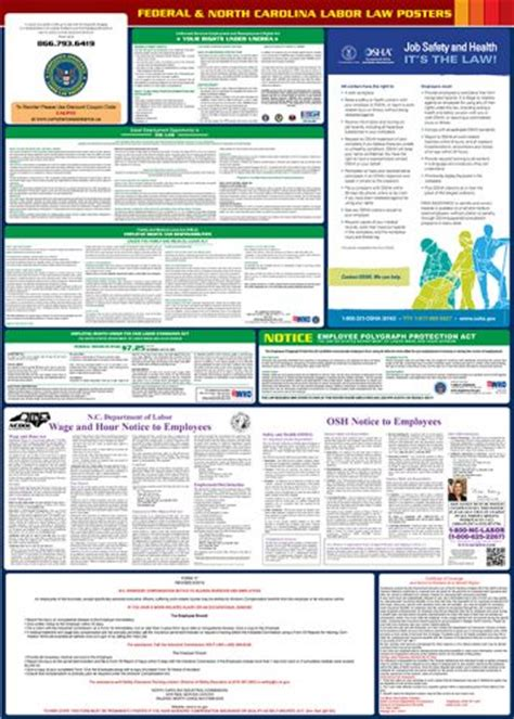 printable fmla poster north carolina labor law poster 2018 all in one state