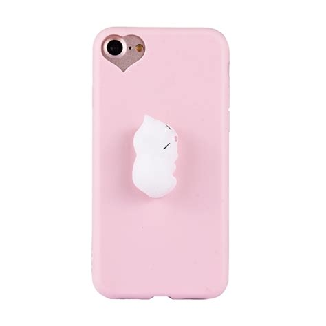 Remax 3d Relief Protective For Iphone 6s Plus Model 11 for iphone 6 plus 6s plus 3d white cat pattern squeeze relief squishy dropproof protective