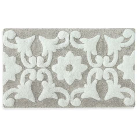 grey and white bathroom rugs buy grey white rug from bed bath beyond