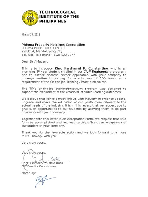 Endorsement Letter For Book Endorsement Letter