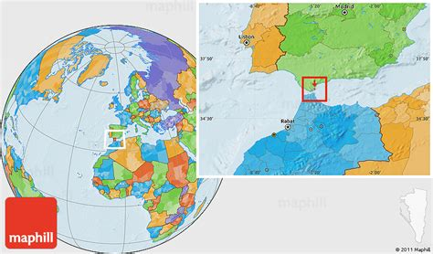 gibraltar on the world map political location map of gibraltar