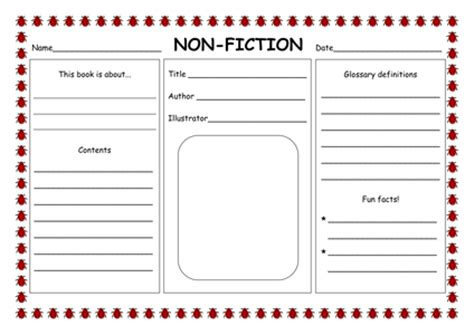 fiction book template fiction non fiction powerpoint by hannahelizabethg uk