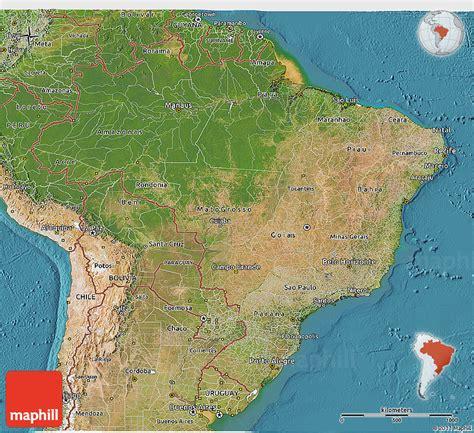 satellite map of brazil satellite 3d map of brazil