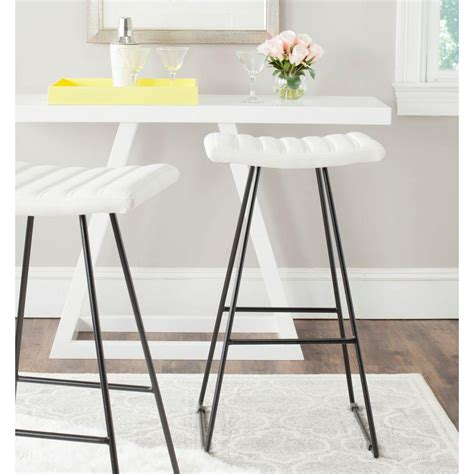 White Patch In Stool by Linon Home Decor 30 In Claridge White Pu Patches Bar