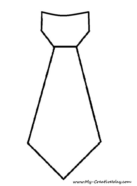 Tie Template my creative way diy tie shirt tie template included
