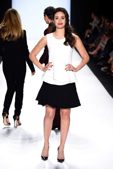 Catwalk To Carpet Emmy Rossum by Front Row Nyfw 2015 The Democracy