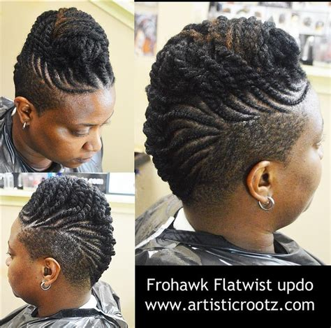 short hair cuts mohawk with twists on sides love it natural hair love it pinterest hair